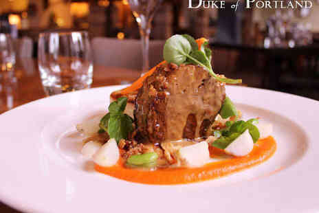 The Duke of Portland - Six Course Michelin Rated Tasting Menu with Glass of Bubbly Each for Two - Save 54%