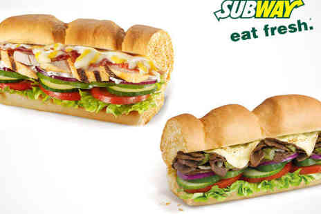 Subway Dudley Road - Foot Long Sub with Drinks and Cookies or Crisps Each for Two  - Save 49%