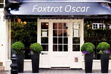 Foxtrot Oscar - Three Course Dinner and Bubbly for two - Save 51%