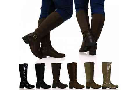 by public demand - Riding Style Wide Calf Boots - Save 58%