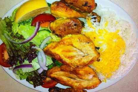 Cheminee Persian Restaurant -  Three Courses For Two With Tea  - Save 58%