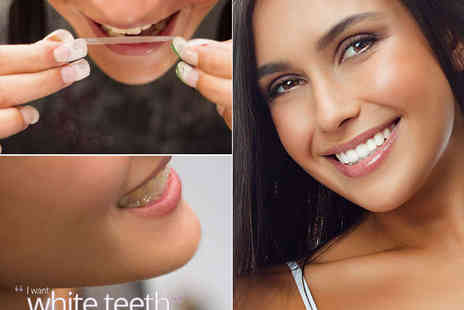I Want White Teeth - 14 Day PRO Teeth Whitening Strip Set  - Save 68%