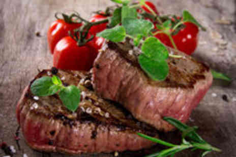 Rancho Steak House - Succulent Steak Dinner and Glass of Wine for Two People - Save 44%