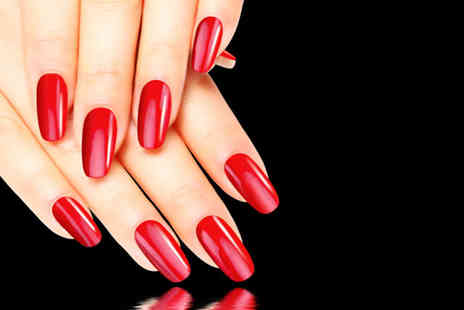 Twilight Salons - Manicure or pedicure with gel overlays - Save 75%