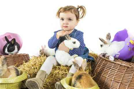 Living Things - Family Photoshoot With Easter Rabbits - Save 76%