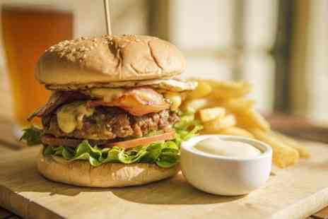 The Melville Bar - Burger Meal Plus Beer For Two  - Save 51%