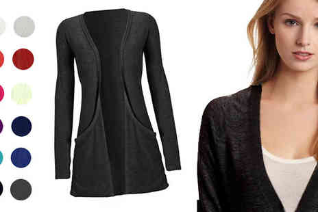 Something About Fashion -  Long Sleeve Cardigan - Save 57%