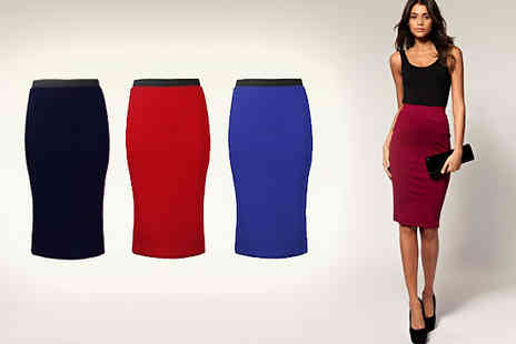 Something About Fashion - Midi Pencil Skirt - Save 47%
