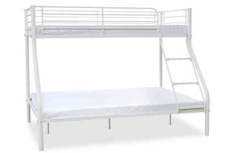 Visco Therapy Direct - Palmdale Triple Sleeper Bunk Bed with 2 Mattresses - Save 57%