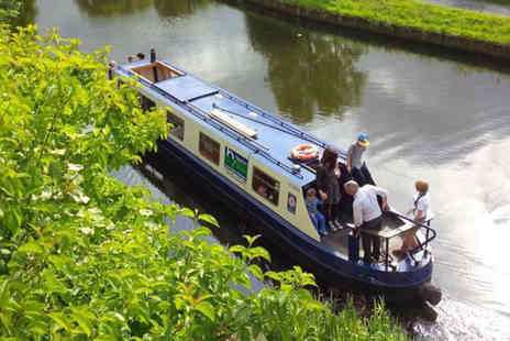 Hapton Valley Boats - One hour Easter narrowboat cruise ticket including refreshments  - Save 50%