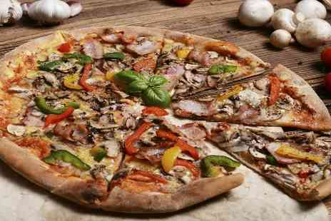 Slice of Sicily - Savour with this fantastic deal for Two Pizzas and Wine for Two - Save 44%