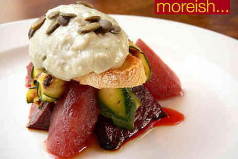 Moreish Restaurant - Seven Course Tasting Menu with Bellini Cocktail Each for Two  - Save 62%