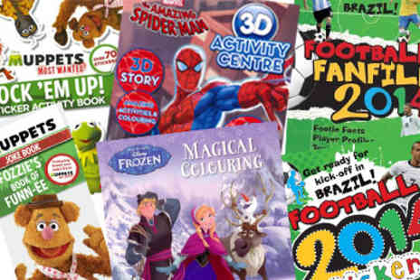 Parragon Books - Spider Man World Cup Football The Muppets and Frozen Activity  - Save 0%