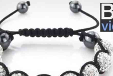 Bo vida - Three Shamballa Style Crystal Beaded Bracelets - Save 87%
