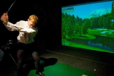 City Golf & Health Club - One Hour Golf Simulator Session Plus Drink  - Save 46%