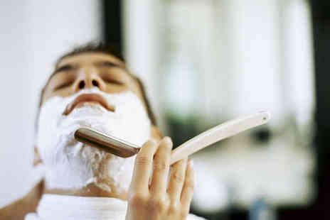 Cutting House - One Visits for Haircut with Traditional Hot Towel Wet Shave - Save 62%