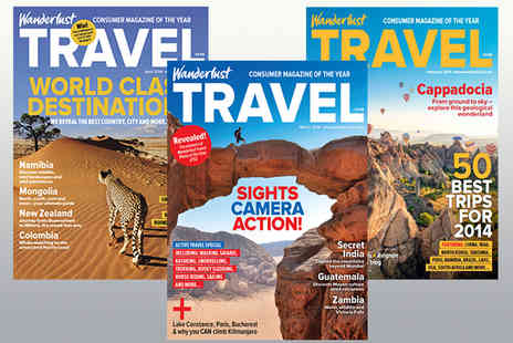 Wanderlust - Voucher for an Annual Subscription to Wanderlust Travel Magazine - Save 33%