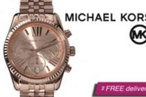 Global Fashion Deals - Michael Kors Lexington rose gold womens watch - Save 39%