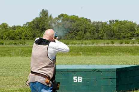 Cloudside Shooting and Sporting Club - Clay Pigeon Shooting With Two Course Meal  - Save 67%
