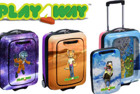 Play Away -  Kids Travel Sized Suitcase and Entertainment Centre in One - Save 50%