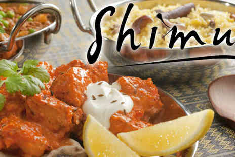 Shimul Restaurant - Two courses of classic Indian cuisine for two - Save 60%