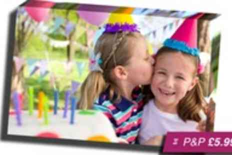 Images to Treasure -  A2 personalised landscape canvas - Save 83%