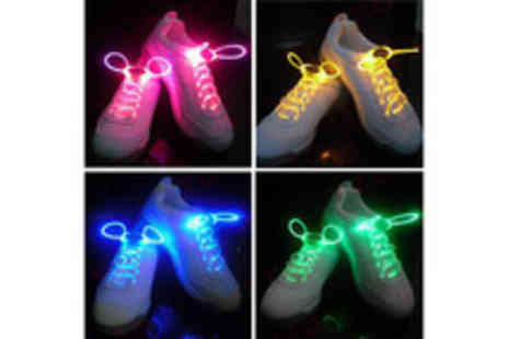 Accessories Town - Four sets of LED shoe laces  - Save 52%