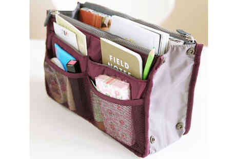 GraBargains - 13 pocket handbag organizer  - Save 65%