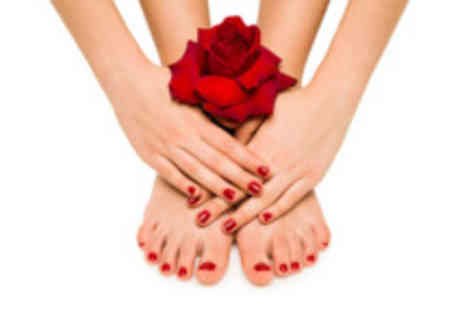 Al Mani Hair and Beauty -  Shellac manicure & pedicure - Save 65%