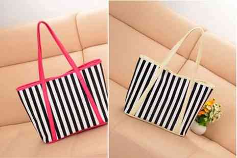 WEKSI - Striped ladies beach tote bag  - Save 48%