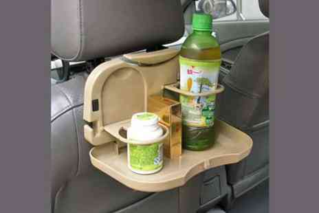 WEKSI - Back seat foldable tray table & drink holder - Save 52%