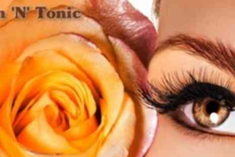 Skin N Tonic - Semi Permanent 3D Eyelash Extensions Plus Eyebrow Shape - Save 73%