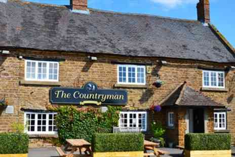 The Countryman - Three Course Meal & Wine for 2  - Save 45%