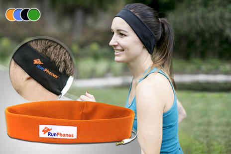 Go10 - RunPhones headband in a choice of sizes and colours - Save 51%