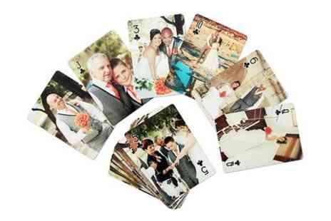 Snapajack - Personalised Playing Cards With 55 Individual Images  - Save 50%