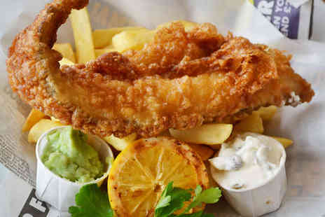 Key West Restaurant - Fish and Chips Lunch for Two with Wine Monday to Friday - Save 54%
