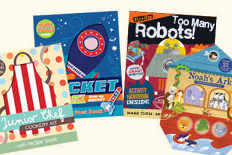 Parragon Books - Activities, Books and Play Noahs Ark, Junior Chef, Rockets & Robots - Save 50%