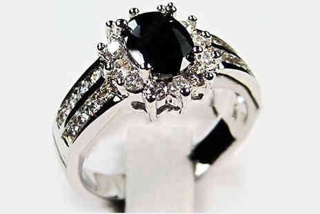 bag a bargain - Black Sapphire Ring - Save 84%