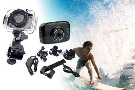 Xyte - Action sports waterproof digital camera and video recorder including accessories - Save 73%