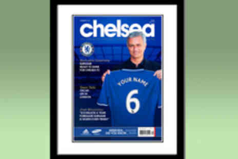 Personalised Football Gifts - Voucher for a Personalised Football Magazine Cover in a Frame - Save 50%