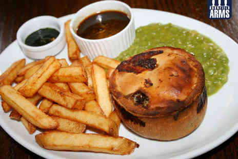 Dronfield Arms - Gourmet Pie with Peas and Chips and Glass of Wine or Beer Each for Two - Save 51%