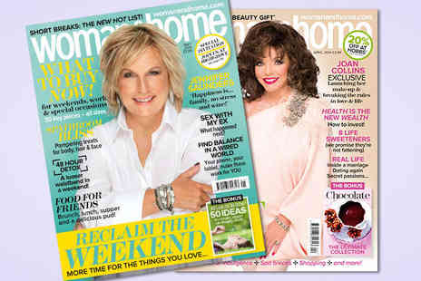 woman&home - One Year Magazine Subscription - Save 56%