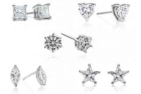 Bella Style - 5 Pairs of Crystal Earrings made with Swarovski Elements - Save 92%