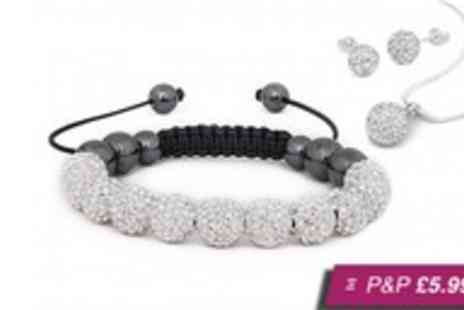Amelia Zahara - Shamballa tri set made with Swarovski elements - Save 96%