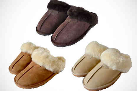 Evaniy - Sheepskin Slippers in Choice of Colour  - Save 68%