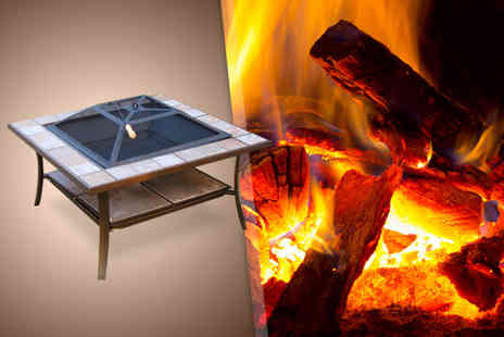 Mhstar - Outdoor fire pit with cover - Save 51%