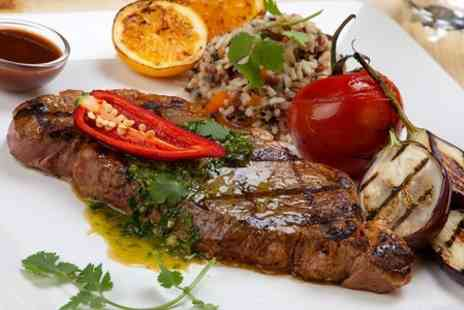 Station 22 International Steak - Spend on meal for two people - Save 50%
