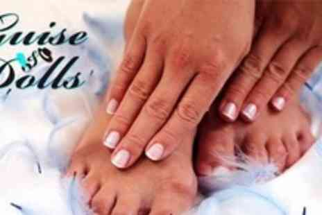 Guise and Dolls - Delux Gel Manicure and Pedicure - Save 70%