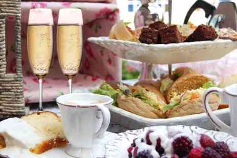 Purple Cocktail Bar - Afternoon Tea With Bubbly For Two  - Save 50%