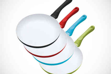 Flogout - Non Stick Aluminium Ceramic Coated Frying Pan in Choice of Sizes and Colours  - Save 50%